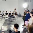 模特大赛:王岳伦老师讲课