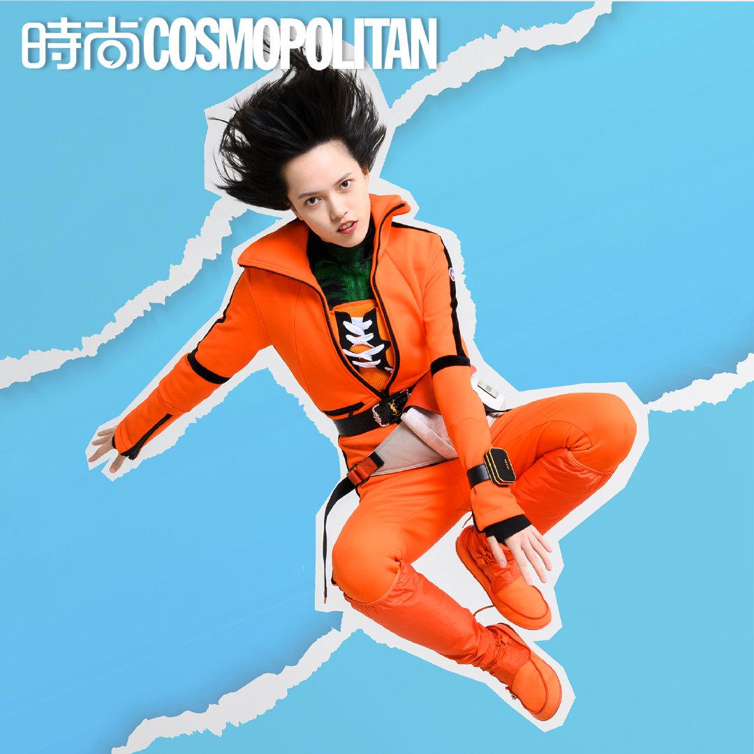 名模特陈园园出镜《时尚COSMO》9月刊大片