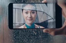 新面孔模特高明遥拍摄华为P20广告